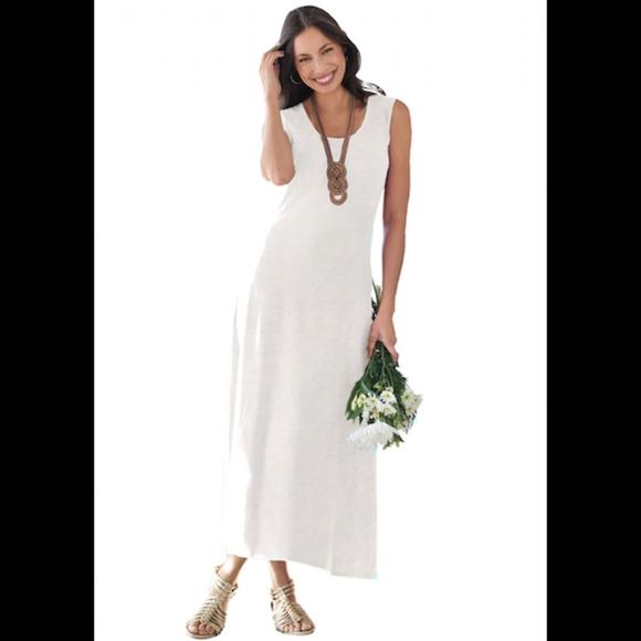 Cotton Sleeveless Maxi Dress Plus Size 28T (Tall)